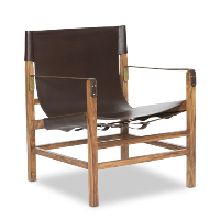 Expat leather chair