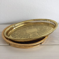 assorted gold trays