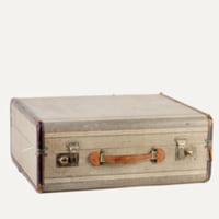 Barrett striped suitcase