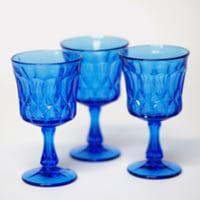marine blue goblets