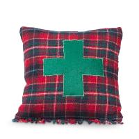 green cross plaid pillow