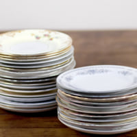 vintage china salad/dessert plates