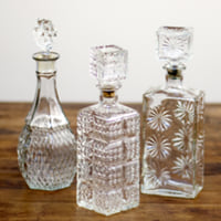 assorted decanters