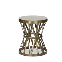 Tolland drum side table