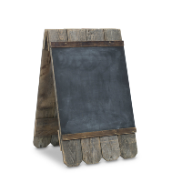 DeSantis standing chalkboard