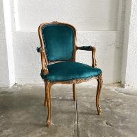 Baptiste teal armchairs