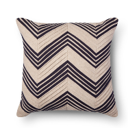 pleated chevron pillow