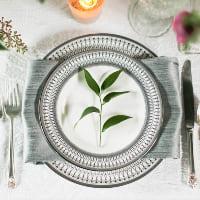 Gabrielle silver dinner plates