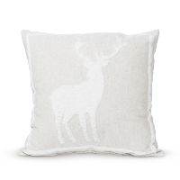 ivory reindeer pillow