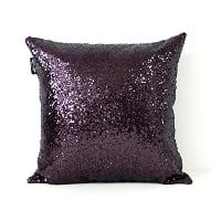 eggplant sequin pillow (b)