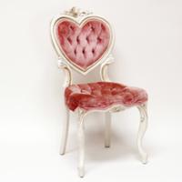 blush sweetheart chair