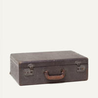 Hudson leather suitcase