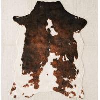 brown vegan hide 5x7' rug