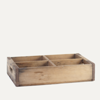 soda crate with four dividers