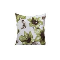 green floral pillow
