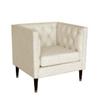Carmen ivory armchair