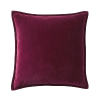 berry velvet pillow (b)