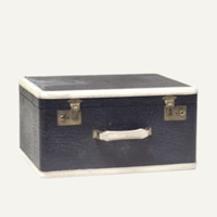 Holmes navy suitcase