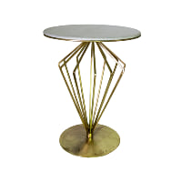 Glisten gold side table