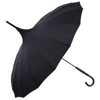 Cecile black pagoda umbrella