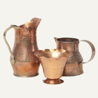 assorted copper vessels