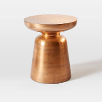Martini copper side table