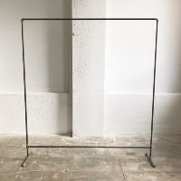 6' galvanized backdrop stand