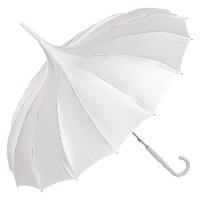 Cecile white pagoda umbrella