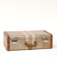 Fairfield striped suitcase
