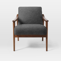Montgomery charcoal armchairs