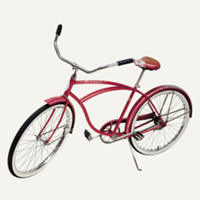 red Schwinn bicycle