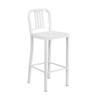Hartford white bar stool