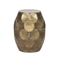 Molina brass accent stool