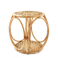 Anguilla rattan side table