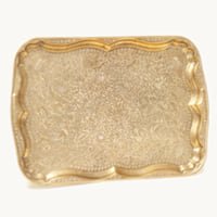 Tatum brass serving tray
