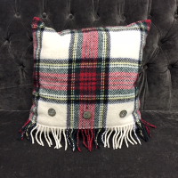red tartan pillow