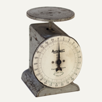 gray kitchen scale