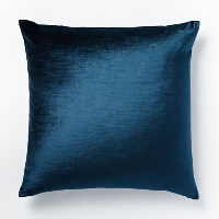 regal blue luster velvet pillow