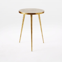 Tripod brass side table