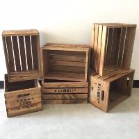 wood whiskey crates