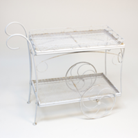 Custer white tea cart