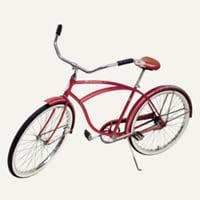 red Schwinn bicycle