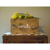 walnut card box