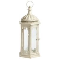Langdon cream lantern, medium
