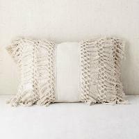 tassel bolster pillow