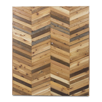 chevron wood wall