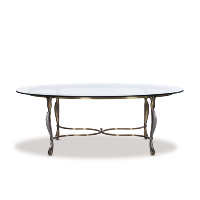 Lenora glass coffee table