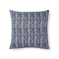 navy velvet chevron pillow