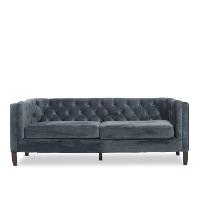 Kristof blue velvet sofa