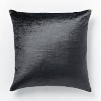 grey luster velvet pillow